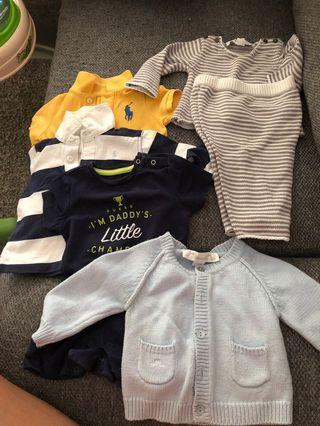 🚚 Branded clothes for baby boys 3-6mths old