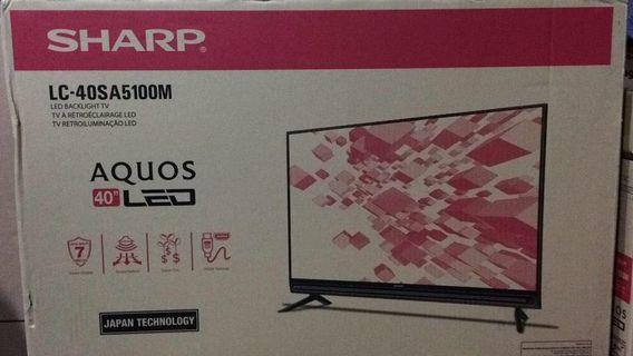 Tv sharp 40 inci baru dlm kotak