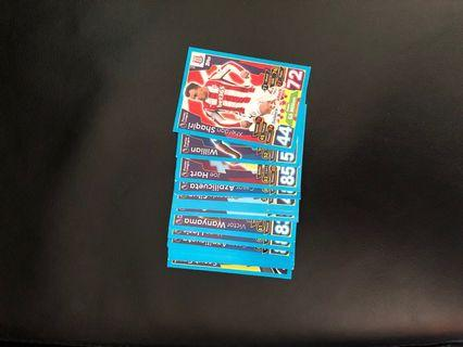 Match attax 17/18 EPL cards