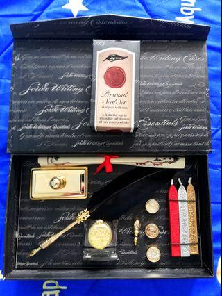 (Free Personal Seal Set!) Authentic Scribe Grand Quill and Seal Set
