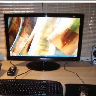 """27"""" samsung monitor : used as extended monitor seldom used"""