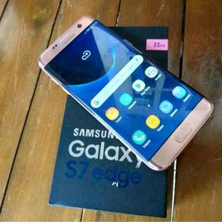 Samsung Galaxy S7 edge rose gold dus dan unit