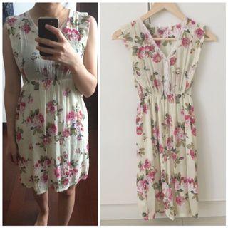 Floral Dress / dress bunga / dress kondangan