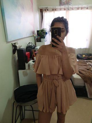 Nude playsuit from Polly