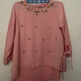 Visain top blouse premium (cera official look a like)