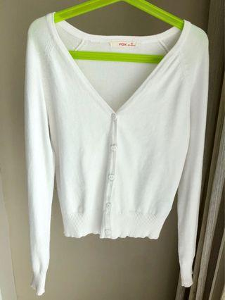 Fox White Cardigan