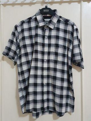 Kemeja Zara Man Plaid Shirt