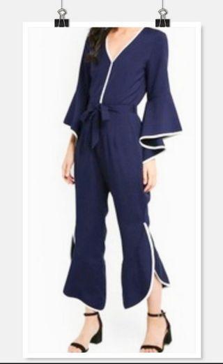 Ruffles Blue jumpsuit