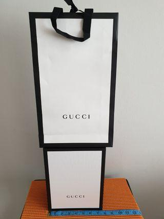 Gucci  Empty  Box & Paper  Bag
