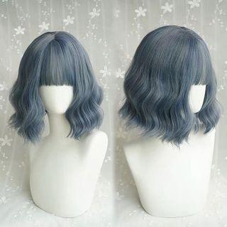 🚚 Bluish grey wave wig