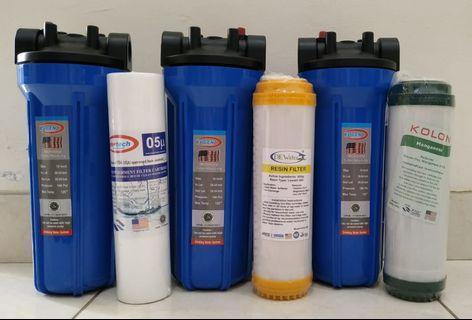 Paket 3 Saringan / Filter Air Siap Pakai 3 Housing
