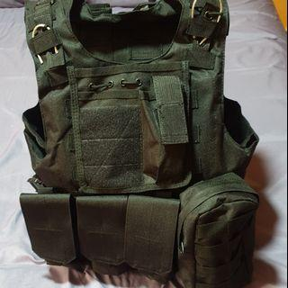 Tactical Molle Vest, Molle Rifle Backpack, Urban Camouflage Pants, Sports Elbow Guard, Skull Mask