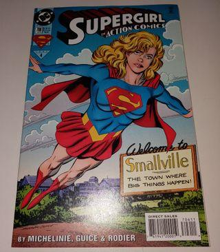 DC Comics 女超人美國漫畫書《Supergirl in Action Comics Jan 1995》保存良好,新淨 Superman 助陣