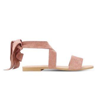 Zalora Soft Fabric Lace Up Sandals in PINK