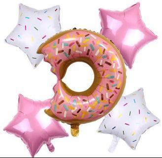 Doughnut star balloons set