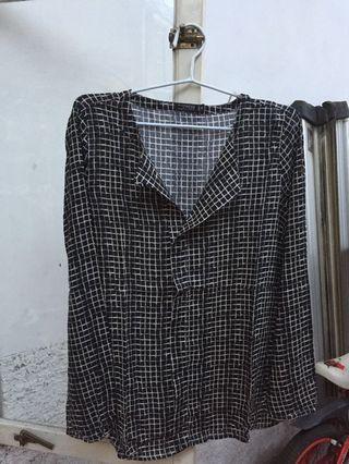 blouse kemeja motif
