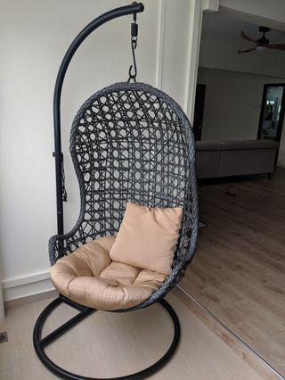🚚 Rattan Swing Chair