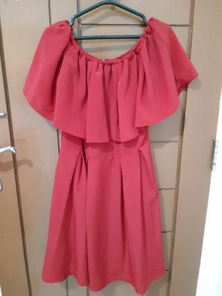 Sale stock Dress sabrina maroon