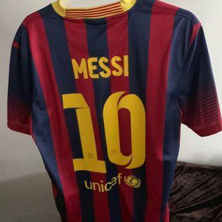 巴塞 球衣  Barcelona 2013/2014 Home kit M碼 90%新 $400