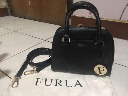 Authentic Furla Elena Mini Satchel Bag