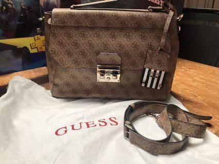 Guess Logo Motif Brown Bag Original Store Limited Edition