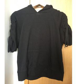 Black Hooded Shirt