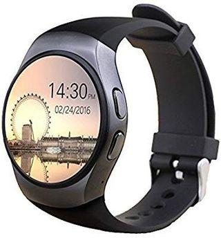 [HG229] KW18 Smart Watch Bluetooth Heart Rate Monitor Intelligent Smartwatch Support SIM TF Card for Apple Samsung Phone (black)
