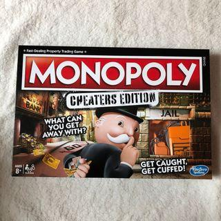 New Monopoly Cheaters Edition Board Game
