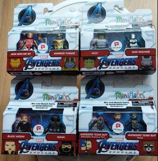 Marvel avengers endgame minimates complete set of 4