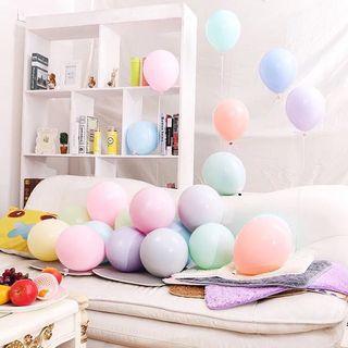 馬卡龍顏色氣球(25個混色)現貨