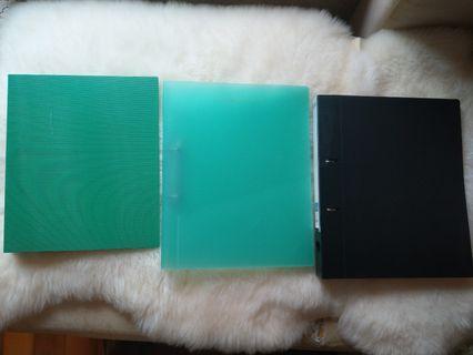 三個A4文件夾