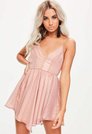 Missguided Pink/Gold Dress