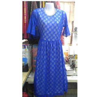 Midi Dress with inner lace