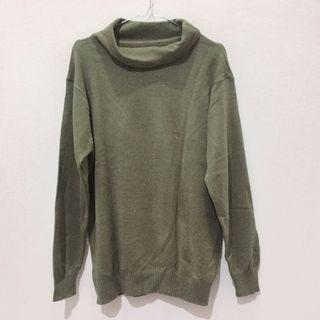 Green Army Turtleneck Sweater