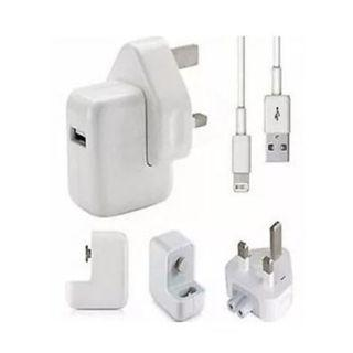 100% Original Apple cable lightning cable+apple plug charger