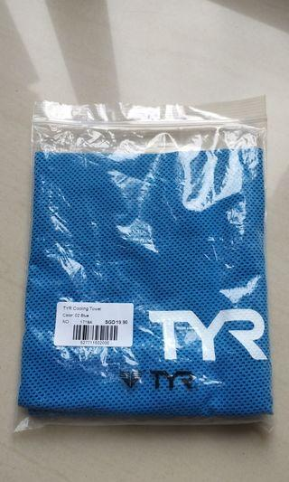 TYR sports towel - blue color