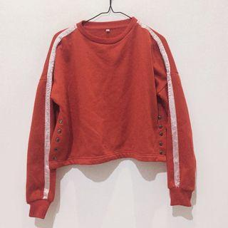 Red Sweater With White Line