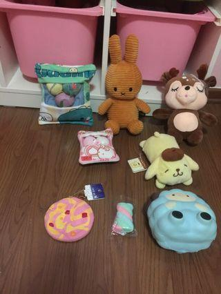 Soft toys with free squishy