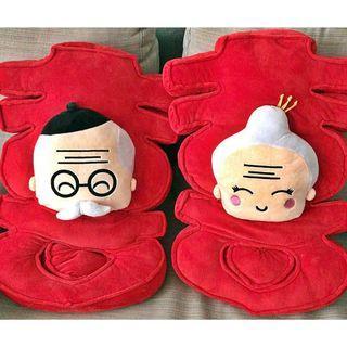 [Rent] Large Wedding Xi Pillows (1 Pair)