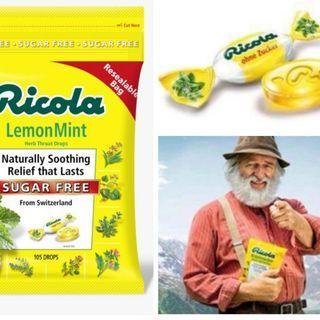 美國進口 Ricola 潤喉糖 (檸檬薄荷味潤喉糖)