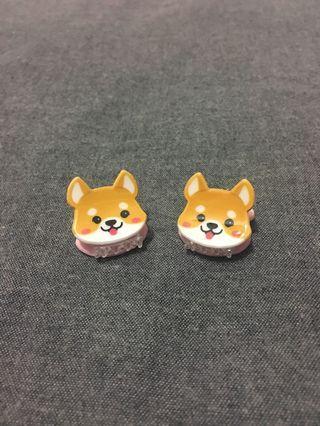 Corgi pet dog hair clips