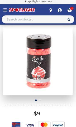 BN Sealed Over the Top Sprinkles in Red Hearts