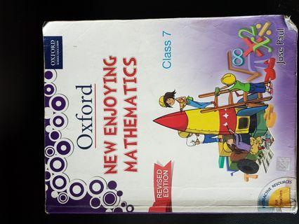 OXFORD - NEW ENJOYING MATHEMATICS REVISED EDITION CLASS 7 MATHS TEXTBOOK