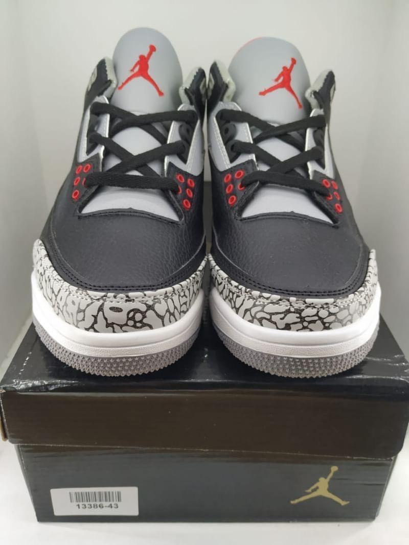 "13386 Nike Jordan 3 Retro Black Cement (2018) ""black red"""