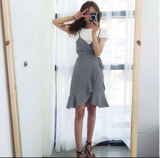 Gingham/ Plaid 2 Piece Dress