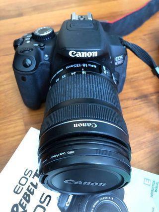 Canon 650D 18-135mm lens