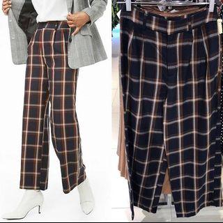 NEW Forever 21 Navy Plaid Pants
