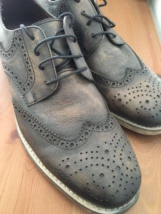 Vintage industrial style leather dress shoes