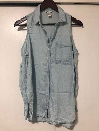 F21 Denim Bakuna Blouse