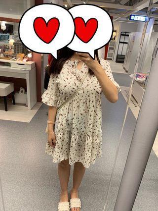 韓國碎花連身裙